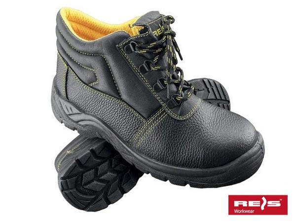 Ботинки рабочие с металлическим подноском REIS (осень-весна) BRYES-T-SB (Польша) спецобувь Черный, 39
