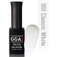 Гель-лак Gga №001Classic White 15 мл