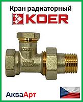 Koer вентиль радиаторный настроечный прямой 1/2x1/2