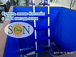 Прямоугольная купель 150х125х125см Мини бассейн с вкладышем из ПВХ лайнера для бассейнов, фото 2