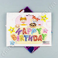 """Фольгированные воздушные шары-буквы """"HAPPY BIRTHDAY"""", высота 40 см"""