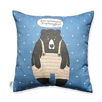 "Подушка ""Медведь"" синяя"