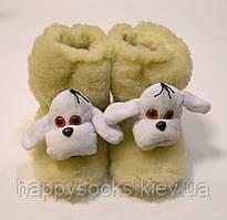 Комнатные сапожки Собака из овчины меховые детские