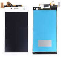 Дисплей (экран) + сенсор (тач скрин) Sony E5303, E5363, E5333 Xperia C4 white (оригинал)
