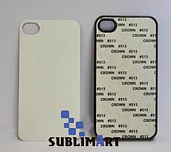 Чехол для 2D сублимации Iphone 4/4S черный, фото 3
