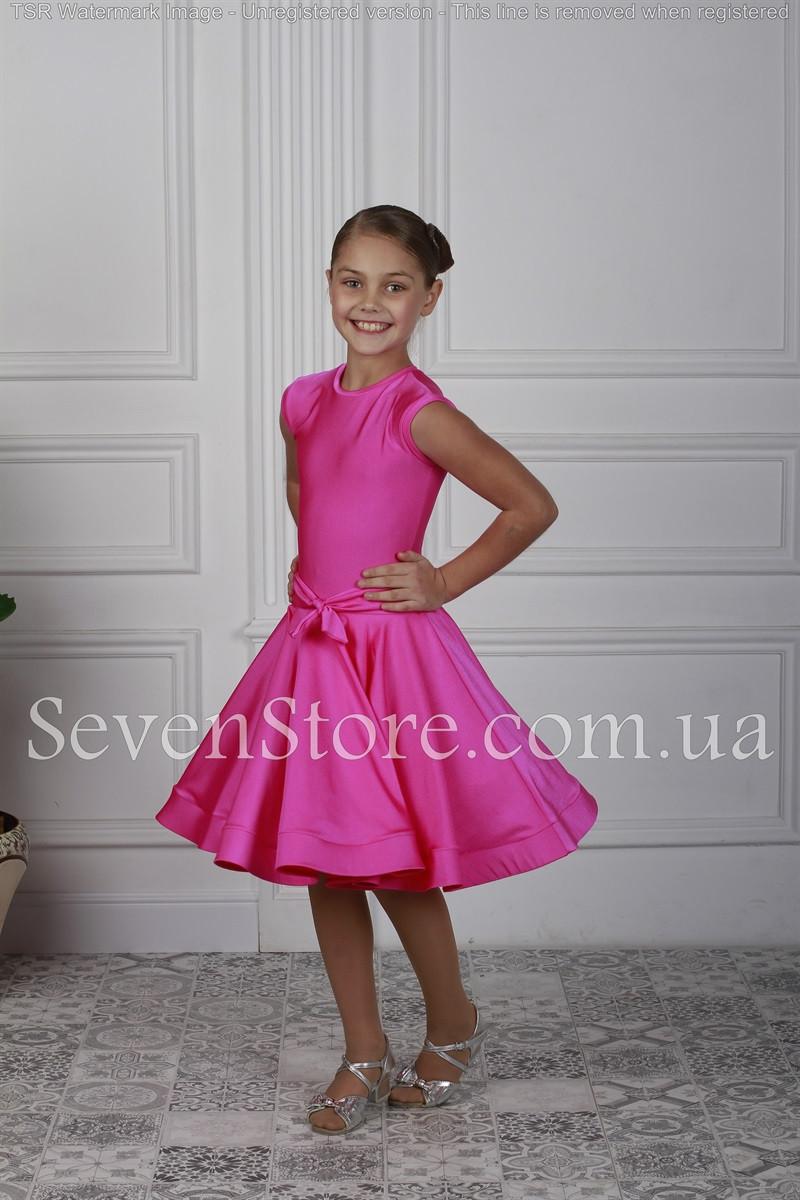 Рейтинговое платье Бейсик для бальных танцев Sevenstore 9121 Малина