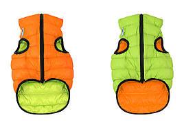 Одежда для собак Airy Vest XS 25, куртка, жилет оранжево-салатовый