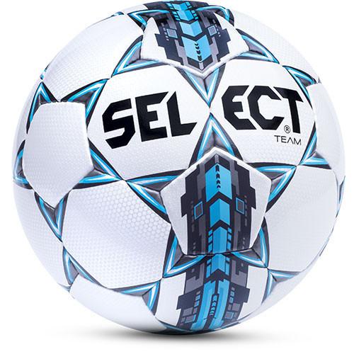 Мяч футбольный №5 SELECT TEAM (белый-серый-голубой)