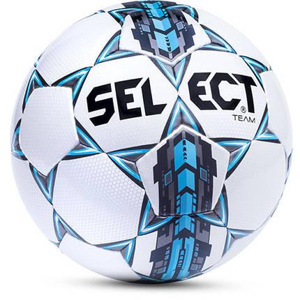 Мяч футбольный №5 SELECT TEAM (белый-серый-голубой), фото 2