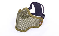 Маска защитная пол-лица из стальной сетки для пейнтбола CM01-O