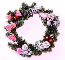 Венок рождественский с декором Yes! Fun Снежинка d-35 см. 903767