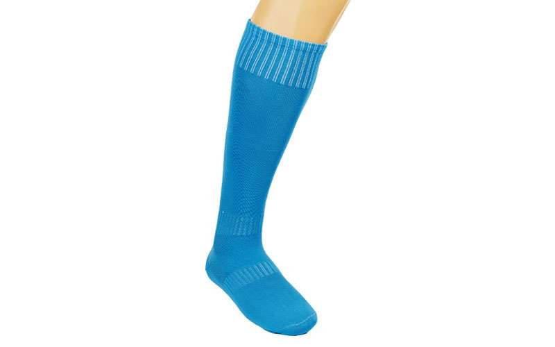Гетры футбольные взрослые голубые CO-5087-LB