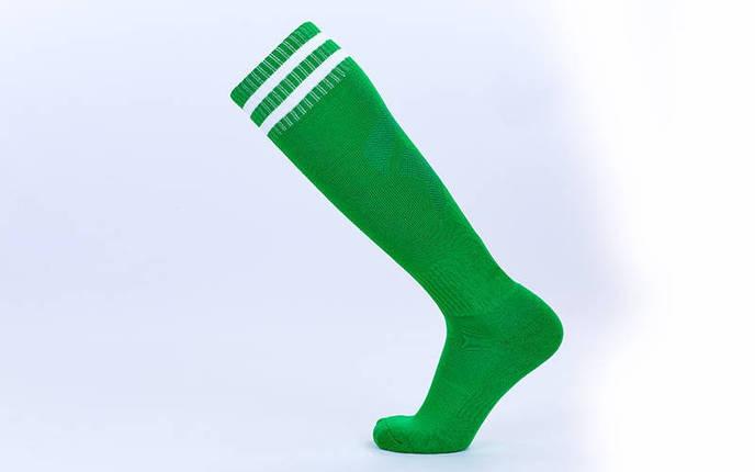 Гетры футбольные взрослые зеленый с белой полосой CTM011-G, фото 2