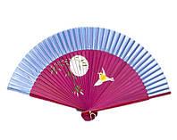 Веер женский шелковый с рисунком