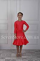 Рейтинговое платье для бальных танцев с поясом