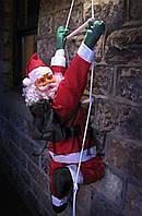 Дед Мороз на декоративной лестнице 100см (Санта Клаус на лестнице): лестница 160см