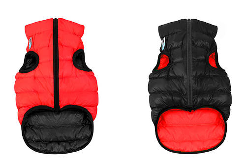 Одежда для собак Airy Vest S 30, куртка, жилет черно-красная