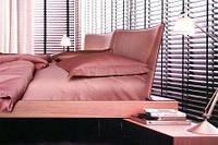 Постельное белье, сатин, однотонное, розовое, евро