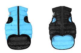 Одежда для собак Airy Vest S 30, куртка, жилет черно-голубой