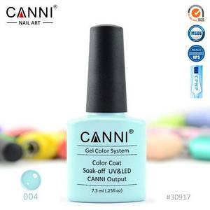 Гель-лак Canni 4 , нежно-бирюзовый
