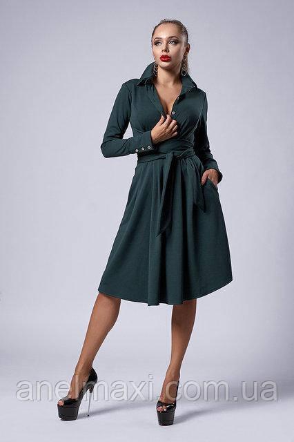 d12c2c0f76f59e6 Молодежное платье мод 538-2, бутылочное, размер 44,46,48,50 : в ...
