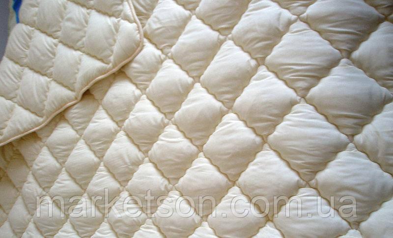 Зимнее теплое одеяло из овечьей шерсти.150х210 Крем.