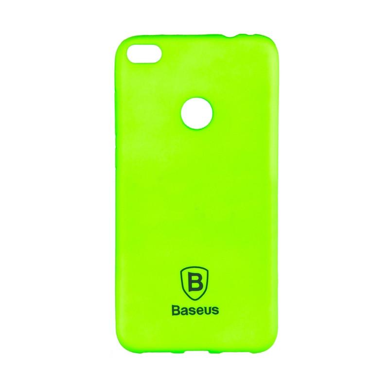 Чехол накладка силиконовый Baseus Soft Colorit для Huawei P8 Lite 2017 зеленый