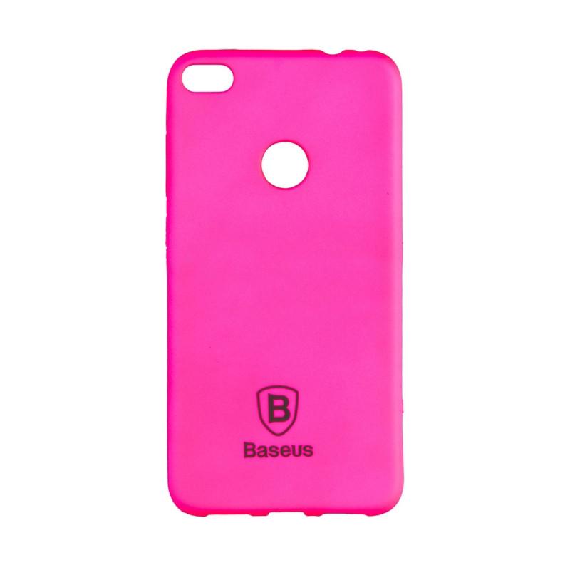 Чехол накладка силиконовый Baseus Soft Colorit для Huawei P8 Lite 2017 розовый