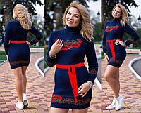 Женское вязанное,теплое платье-туника в украинском стиле ,новинка ,Турция