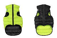 Одежда для собак Airy Vest S 35, куртка, жилет черно-салатовый