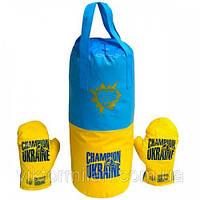Детская боксерская груша большая с перчатками Украина Danko Toys