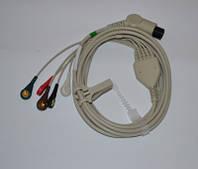 Кабель ЭКГ 3х канальный ECG-C3C Heaco (Великобритания)