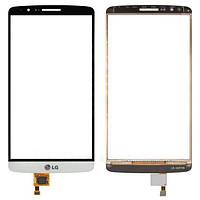 Сенсор (тач скрин) LG G3 D855 white (оригинал)