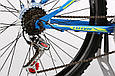 """Горный велосипед TOTEM MTB SHARK 26"""" 13"""", 15"""", 17"""" Голубой / Желтый, фото 5"""