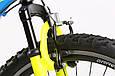 """Горный велосипед TOTEM MTB SHARK 26"""" 13"""", 15"""", 17"""" Голубой / Желтый, фото 6"""