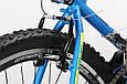 """Горный велосипед TOTEM MTB SHARK 26"""" 19"""" Голубой / Желтый, фото 7"""
