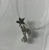 348 Модные аксессуары. Маленькие подвески ноты на леске оптом