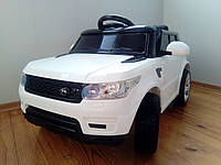 Детский электромобиль RX 112 на резиновых EVA колёсах, Амортизаторы, белый