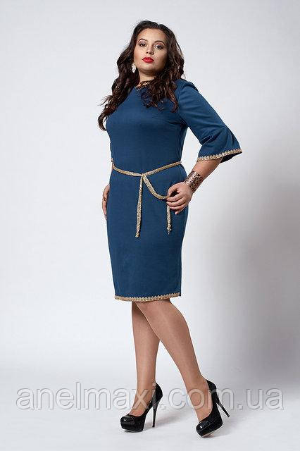 686349aec056e34 Молодежное платье мод 294-4,морская волна, размер 50 ,52,54 , цена ...