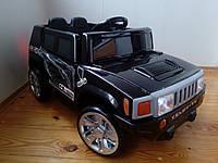 Детский электромобиль RХ 111 Хаммер на EVA резиновых колёсах, с кожаным сиденьем, чёрный