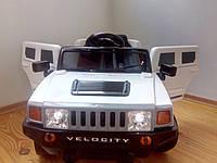 Детский электромобиль RХ 111 Хаммер на EVA резиновых колёсах, с кожаным сиденьем, белый