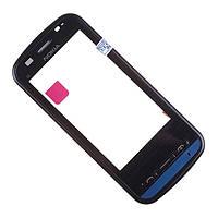 Тач  Nokia C6-00 + рамка Black  оригинальный
