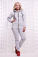 Женский теплый спортивный костюм с капюшоном. Ткань: трехнитка. Размер: 42-44, 44-46, 48-50, 52-54