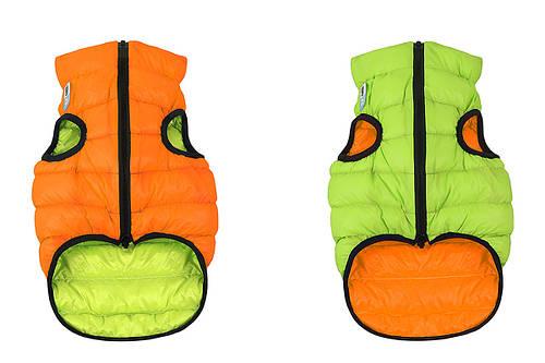 Одежда для собак Airy Vest S 35, куртка, жилет оранжево-салатовый