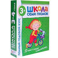 Книга Школа семи гномов Полный годовой курс Для занятий с детьми от 3 до 4 лет (комплект из 12 книг)Мозаика-си