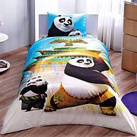 Детский комплект постельного белья Tac  Kung Fu Panda movie простынь на резинке