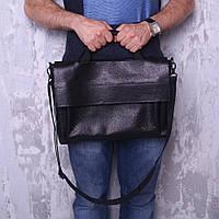 Мужская классическая сумка из кожи черного цвета