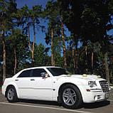 Прокат Машины на свадьбу Белый Chrysler 300c, фото 2