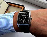 Кварцевые мужские часы EMPORIO ARMANI.Стильные часы. Часы армани.