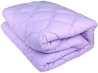 Зимнее теплое одеяло из овечьей шерсти. 175х210. Микрофибра. Сирень.